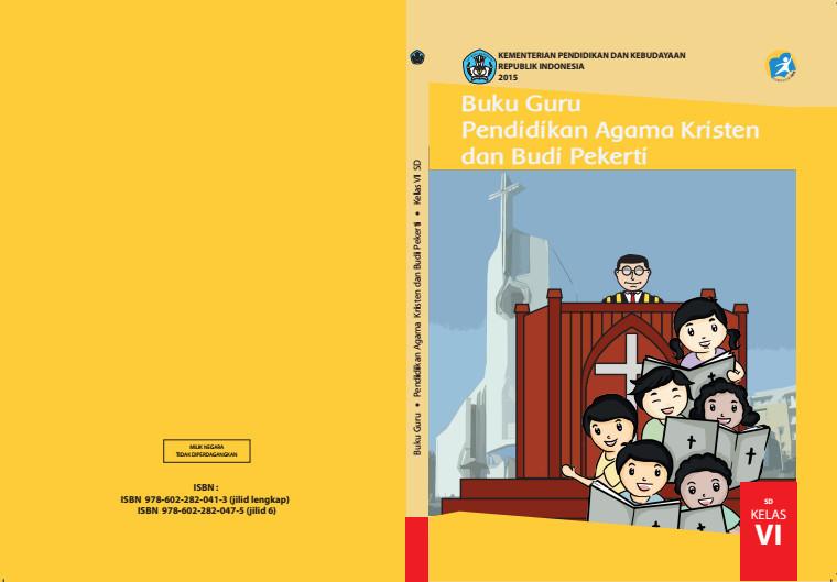 Download Gratis Buku Guru Pendidikan Agama Kristen dan Budi Pekerti Kelas 6 SD Kurikulum 2013 Format PDF