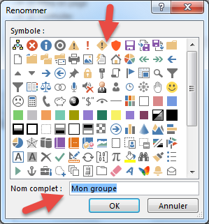 Renommer groupe