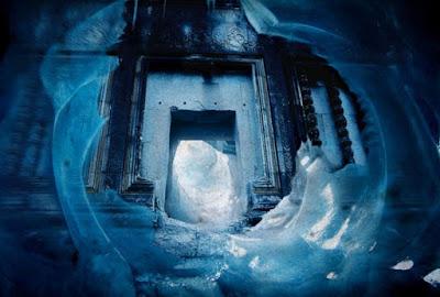Artists impression of a doorway in to a secret underground civilization in Antarctica.