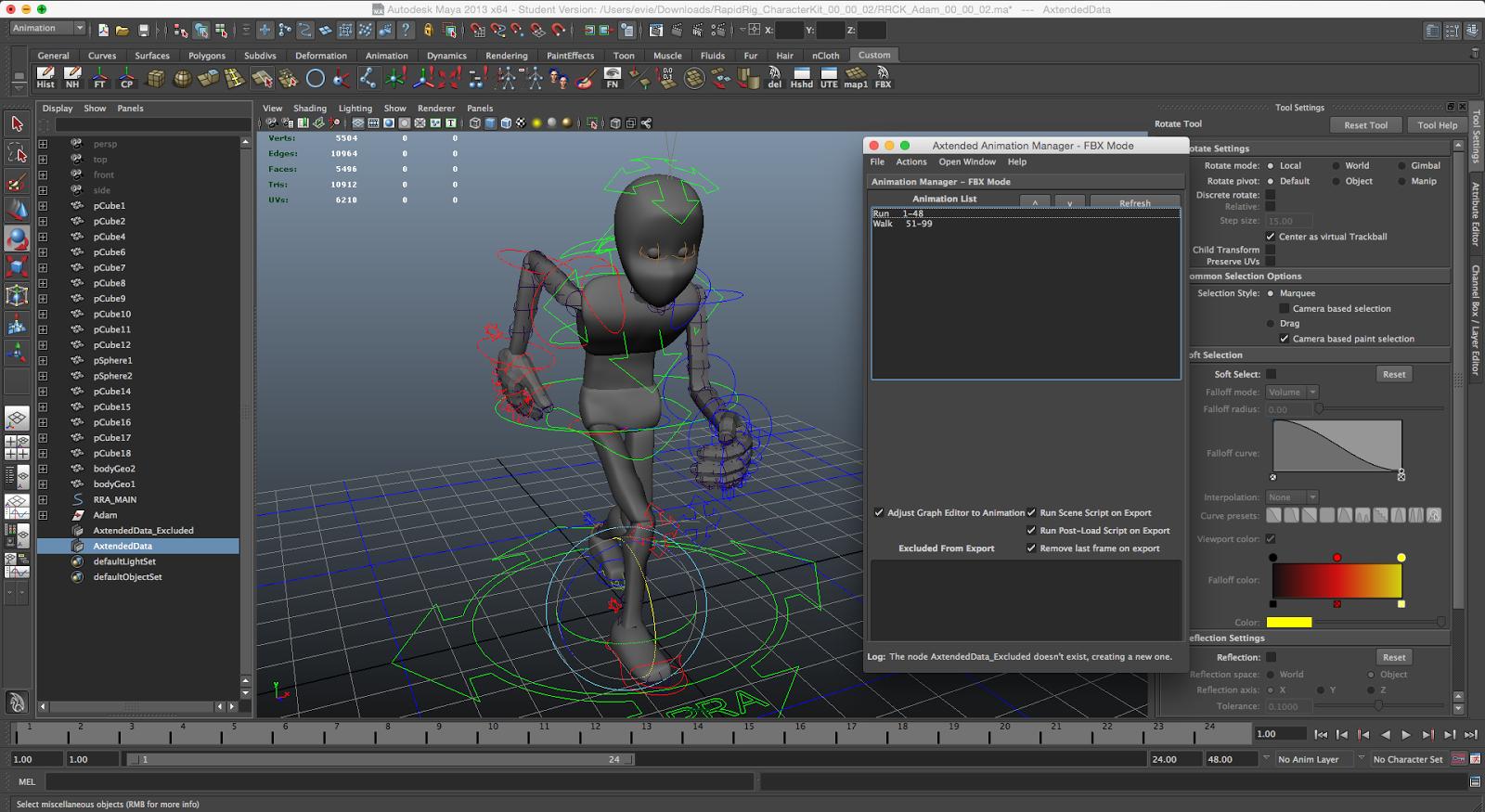Axtended: FBX Split Animation Batch Exporter Plugin ~ Chong Evie