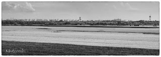 Szeged látképe autópálya felüljáróról