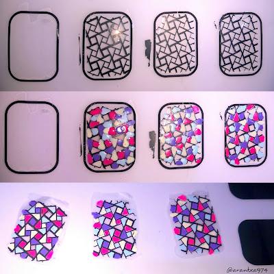 Pegatinas caseras para nail art