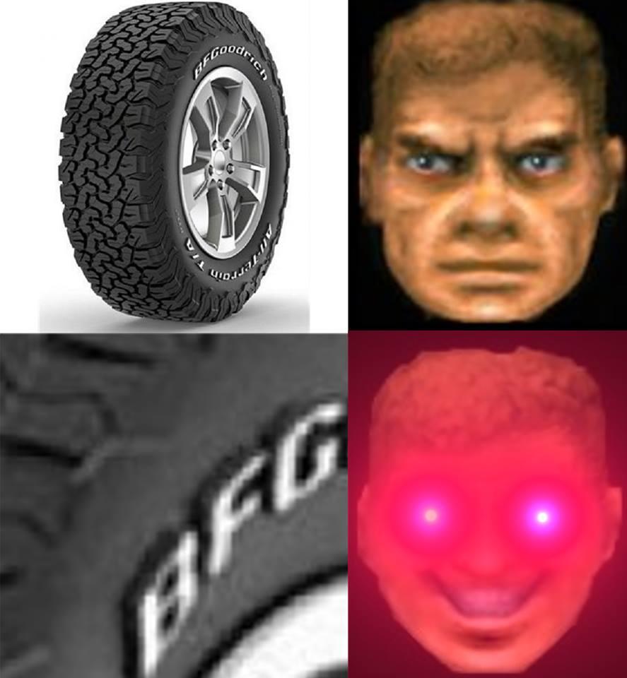 Sobre pneus e BFGs