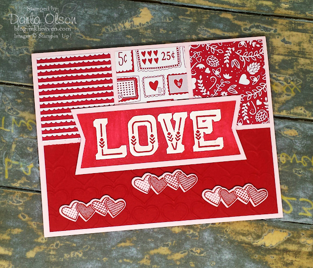 Handmade card created with Double Take Stampin' Up! shared by Darla Olson at inkheaven