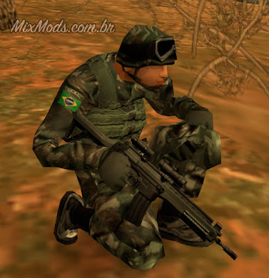 gta sa san mod arma brasileira imbel ia2 exército skin