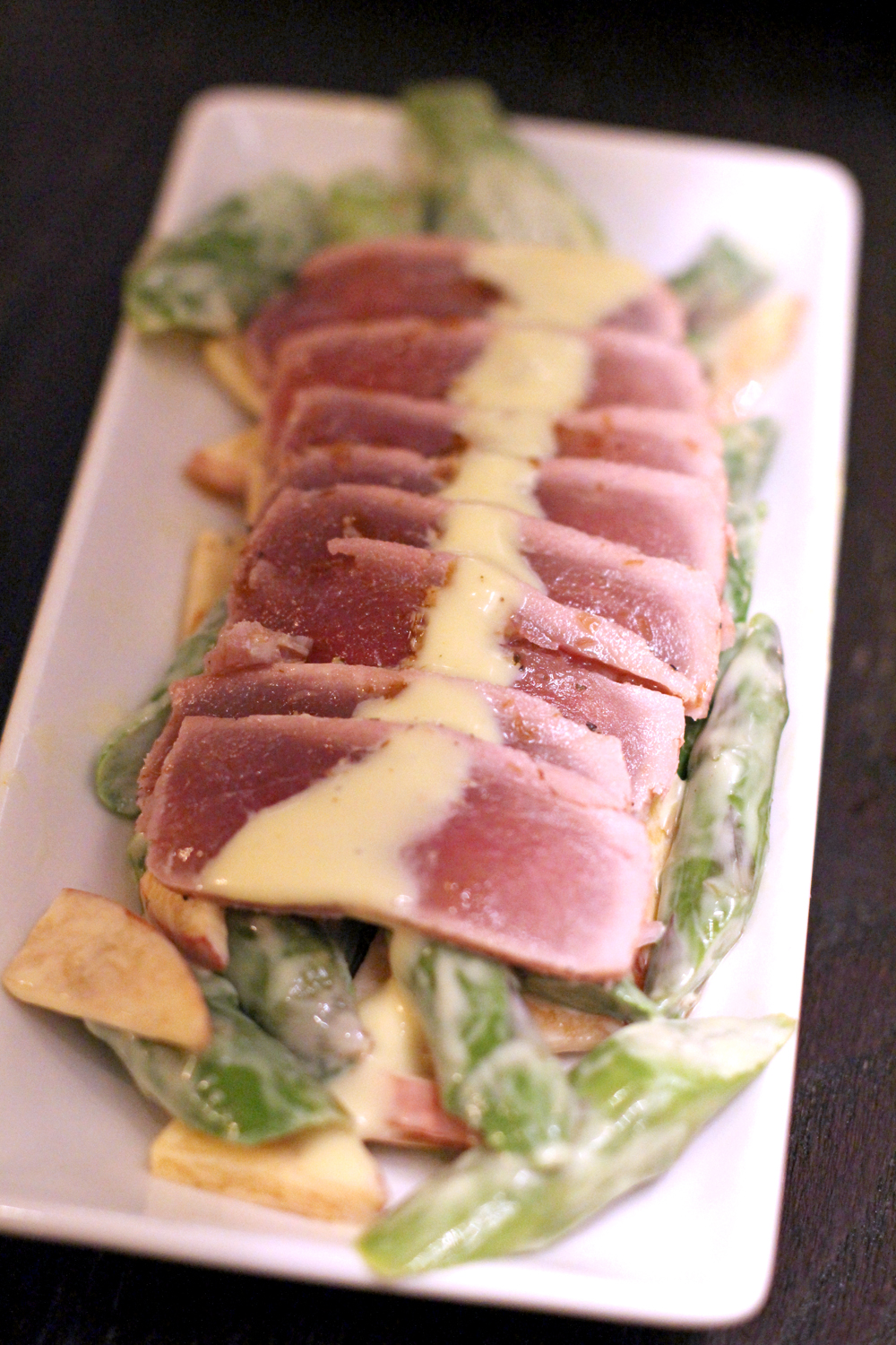 Seared ahi tuna at P.F. Chang's restaurant in London - UK lifestyle blog