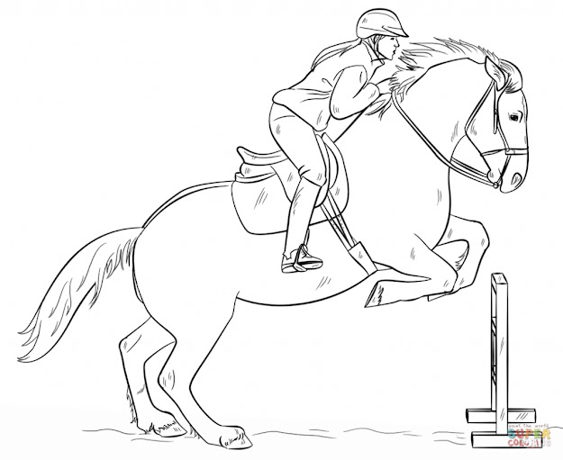 Girl Riding Horse Coloring Page Horses Coloring Pages Free Coloring Pages