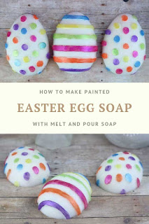 If you need soap making ideas, learn how to paint soap with mica powder and alcohol.  This siap making diy is easy with melt and pour soap. This DIY easter crafts is so cute!  Use an Easter egg mold to make soap and then paint it for a DIY easter ideas.  Making homemade soap like this is easy to do and doesn't take long.  #diy #soap #easter
