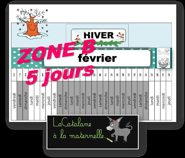 Poutre du temps 2018-2019 zone B 5 jours (LaCatalane)