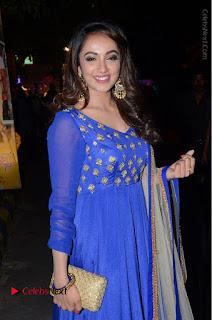 Telugu Actress Tejaswi Madivada Pos in Blue Long Dress at Nanna Nenu Na Boyfriends Audio Launch  0048.JPG