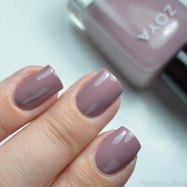 dusty purple creme nail polish