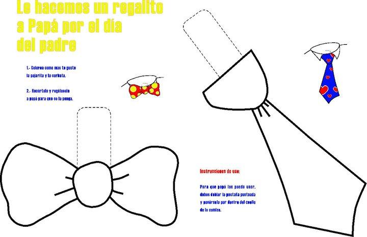 Dibujos De Corbatas Para Imprimir Y Colorear: Plantillas De Corbatas Para Colorear