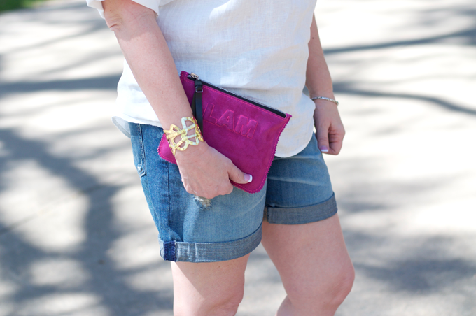 Fuschia-Monogram-Clutch