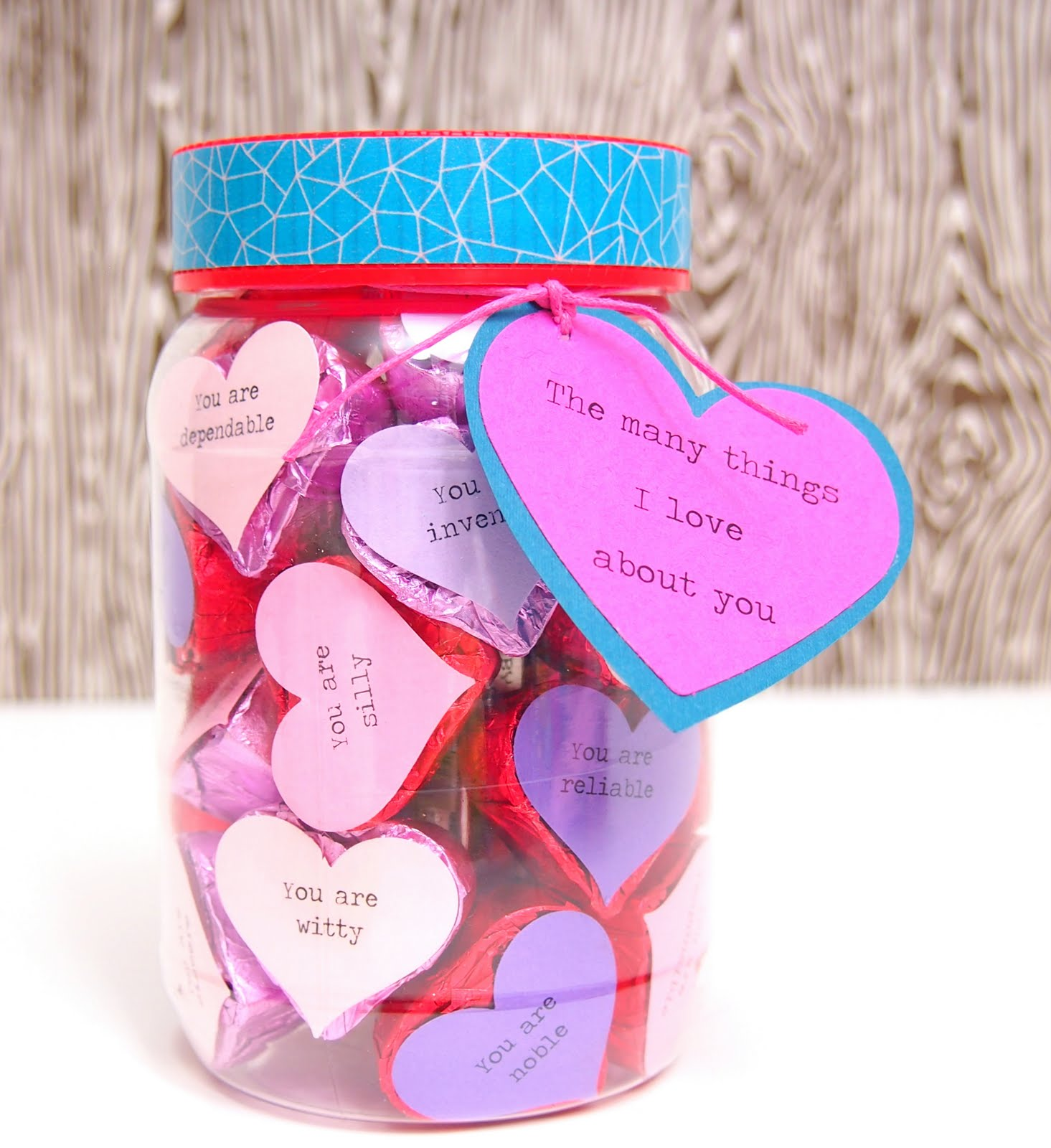 The Tiny Funnel: Valentine\'s Day Candy Jar
