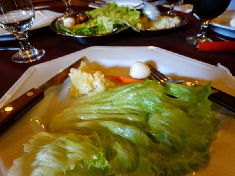 Restaurantes em Carlos Barbosa: Casa Borsoi  - Salada com maionese de batata e leite