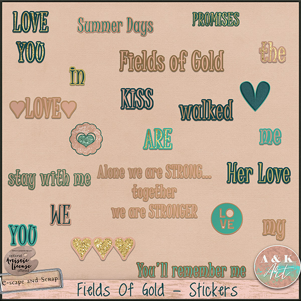 Fields of Gold stickers