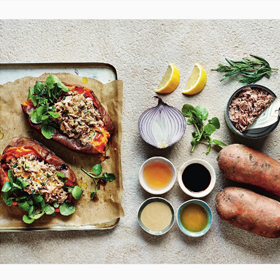 Clean Eating Alice sweet potatoes stuffed with seasoned tuna, recipe, clean eating, meal prep