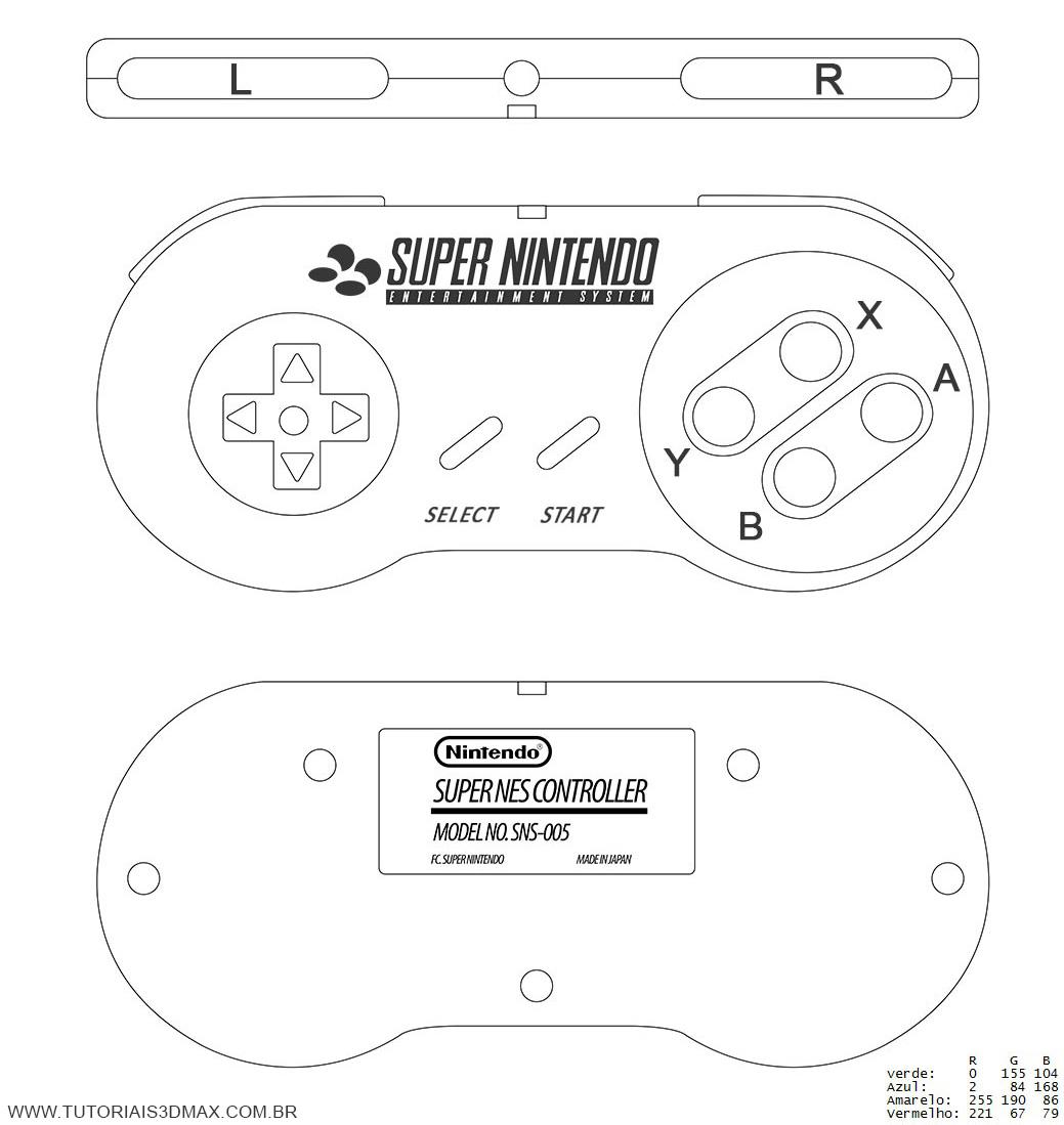 Tutorial 3d Max Controle De Super Nintendo 1 12