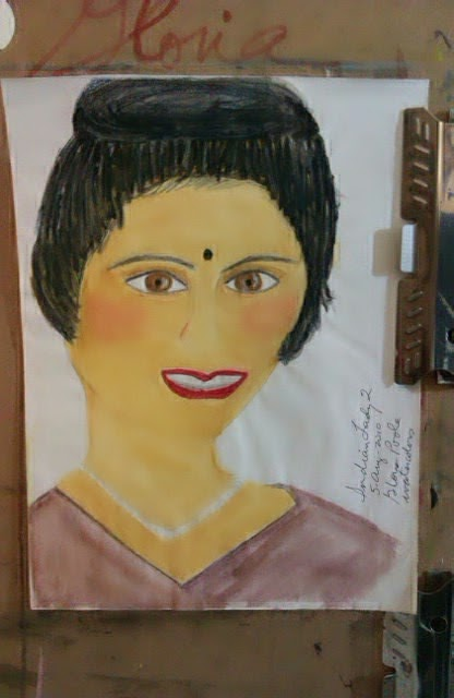Indian Lady sketch by Gloria Poole;ethnic series