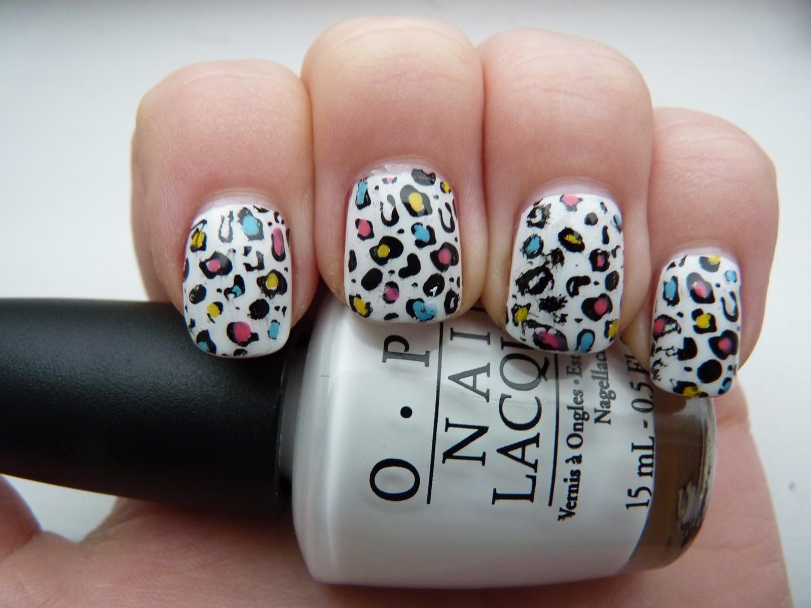 Colorful leopard print nails - HD Wallpaper Pic