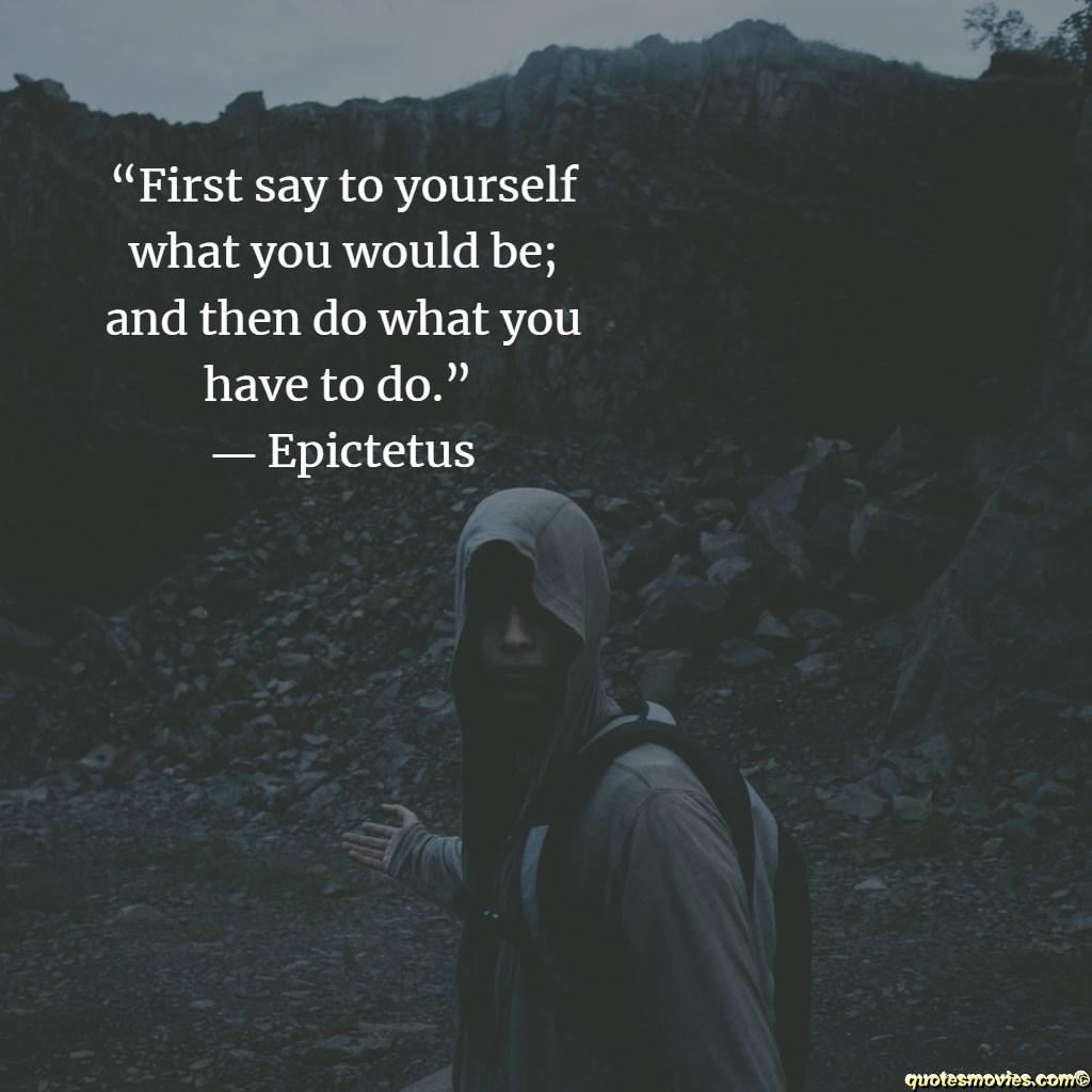 Epictetus Quote about seeking the good