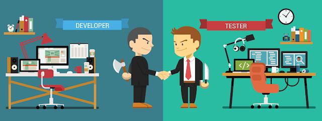 Testers vs Developers-Penguji vs Pengembang