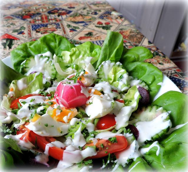 Buttermilk Dressed Rose Salad Bowl