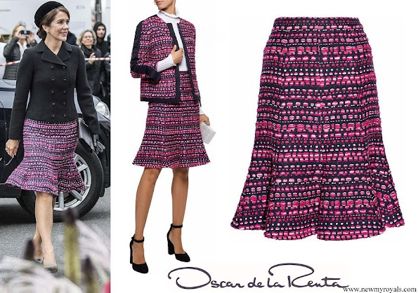Crown Princess Mary wore OSCAR DE LA RENTA Boucle skirt