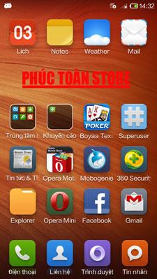 Tiếng Việt và Ch play Xiaomi HM 1SW ok alt
