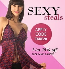Flat 20% Off on Women's Under Garments (Bra / Panties / Night wear / Swim Suits / Leggings & Accessories) @ Pretty Secrets