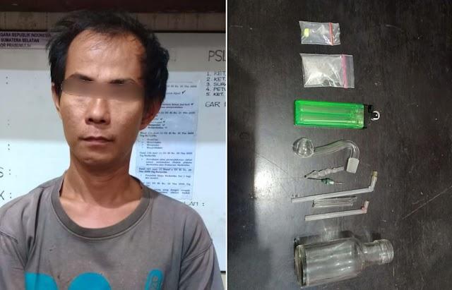 Akibat Menyimpan Sabu, Zuher Diringkus Satres Narkoba Polres Prabumulih