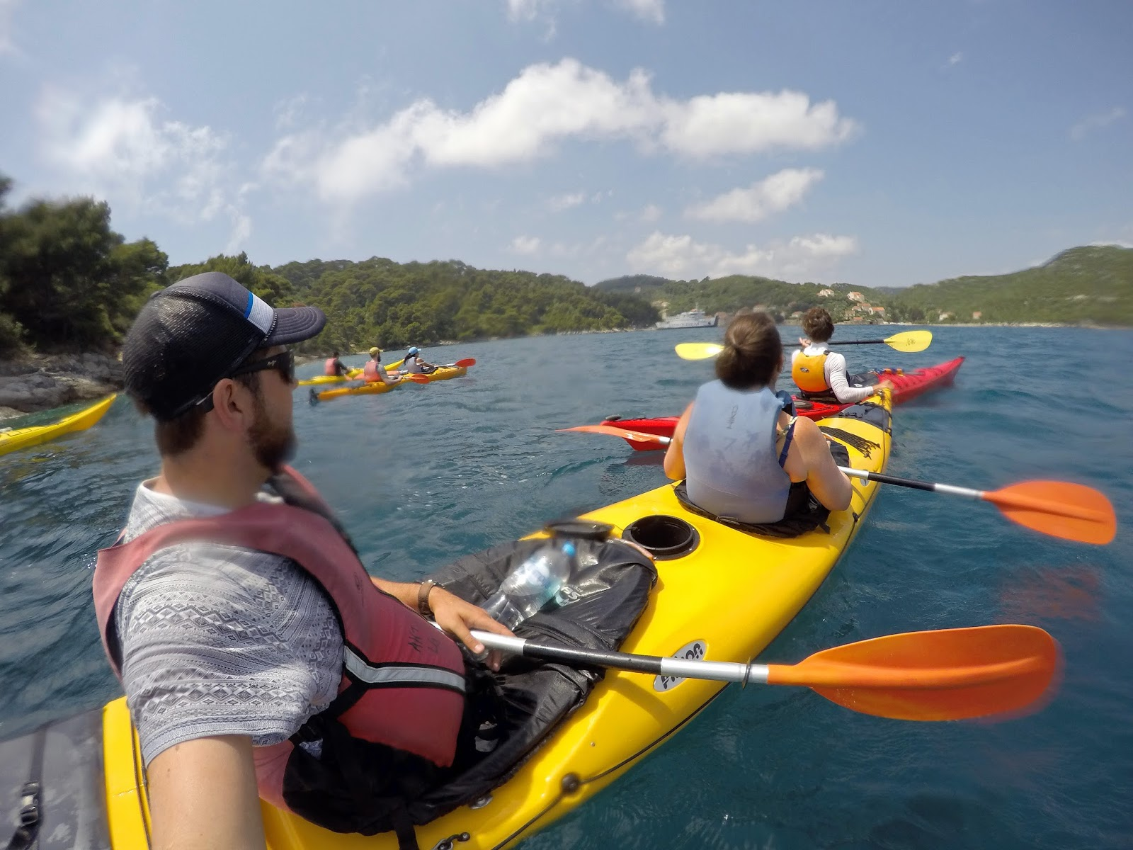 Group Kayaking Elafiti Islands with Adriatic Kayak Tours