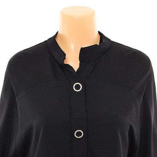 Rolled-Sleeve Henley Shirt