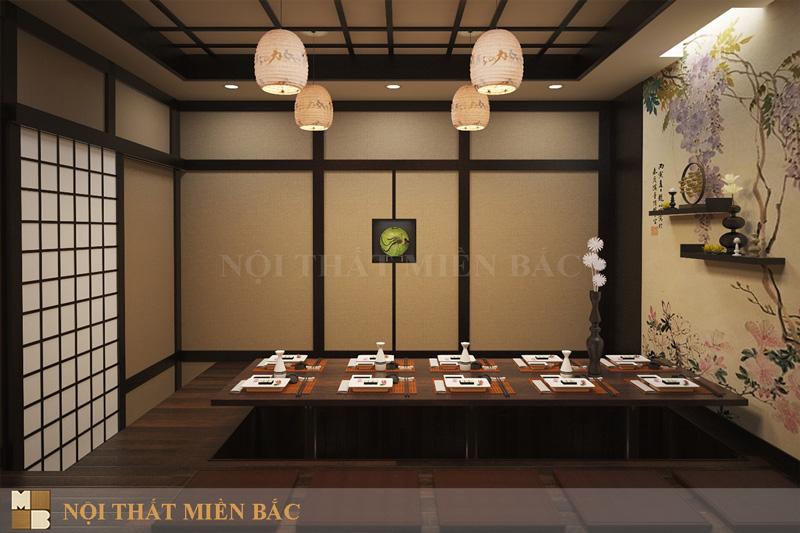 Thiết kế nội thất nhà hàng Nhật thuần chất truyền thống