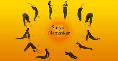 Surya Namaskar ,sun salutation pose