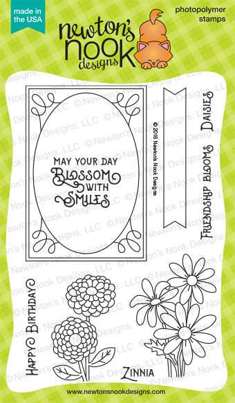 Garden Starter 4 x 6 photopolymer Seed and garden stamp set by Newton's Nook Designs #newtonsnook
