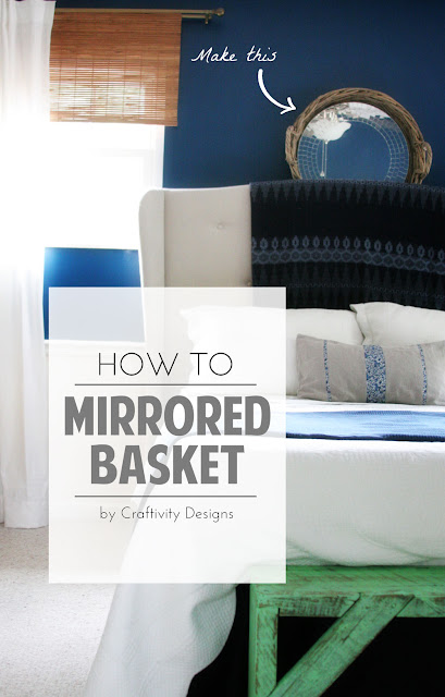 How To Make a Mirrored Basket // DIY Wall Decor // Craftivity Designs