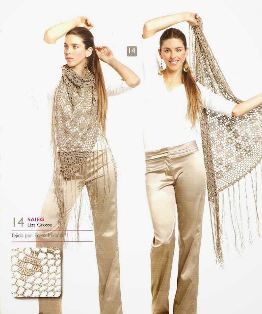 Patrón #1526: Poncho a Crochet