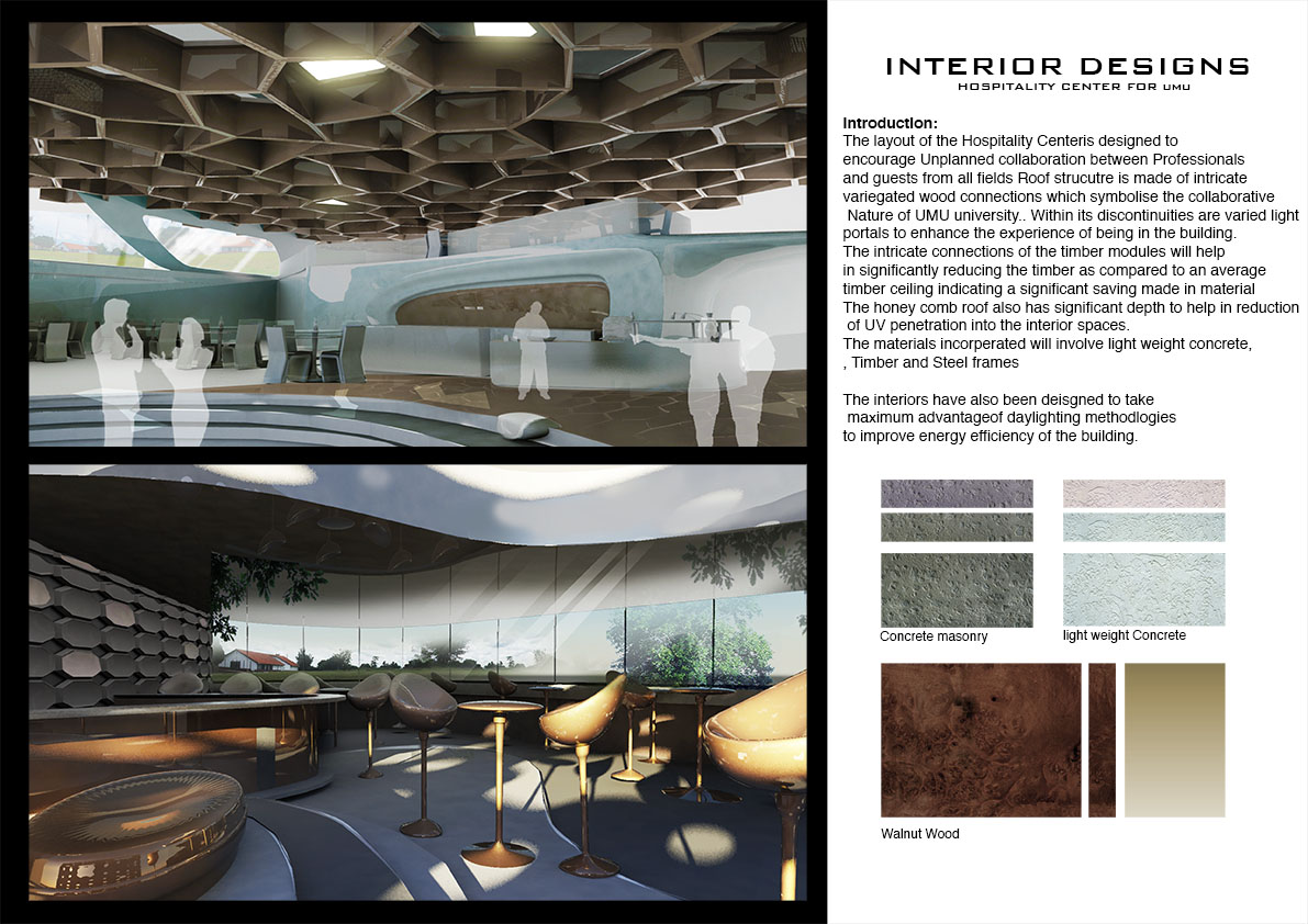 Parametric Interior Concepts For Upcoming Hospitality Center Design Proposal