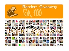 Random Giveaway RM100 Follower HASRULHASSAN.COM