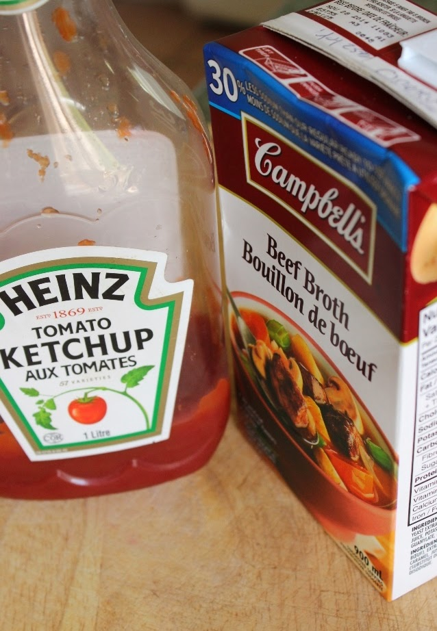 Ketchup and Beef Broth for Spicy Beef Stove-Top Casserole