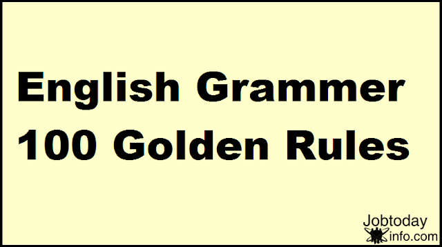 English Grammar For Error Detection And Sentence Improvement 100 Golden Rules