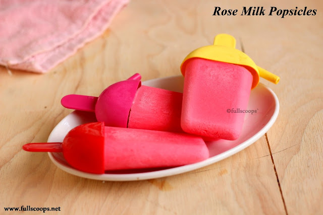 Rose Milk Popsicles
