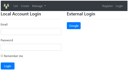 ExternalLoginCallback action in asp.net core