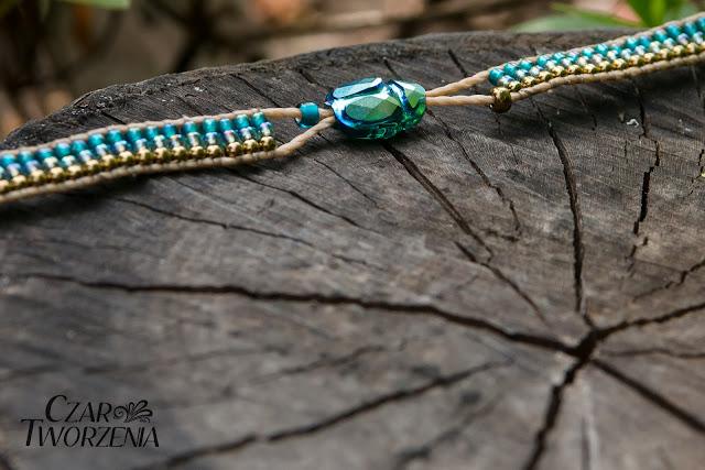 handmade ręcznie robiona bransoletka scarab bead