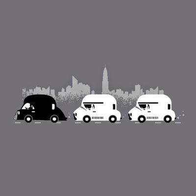 taxis negros y blancos