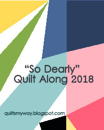 Logo - So Dearly QAL 2018 hosted by Gosia at Quilts My Way
