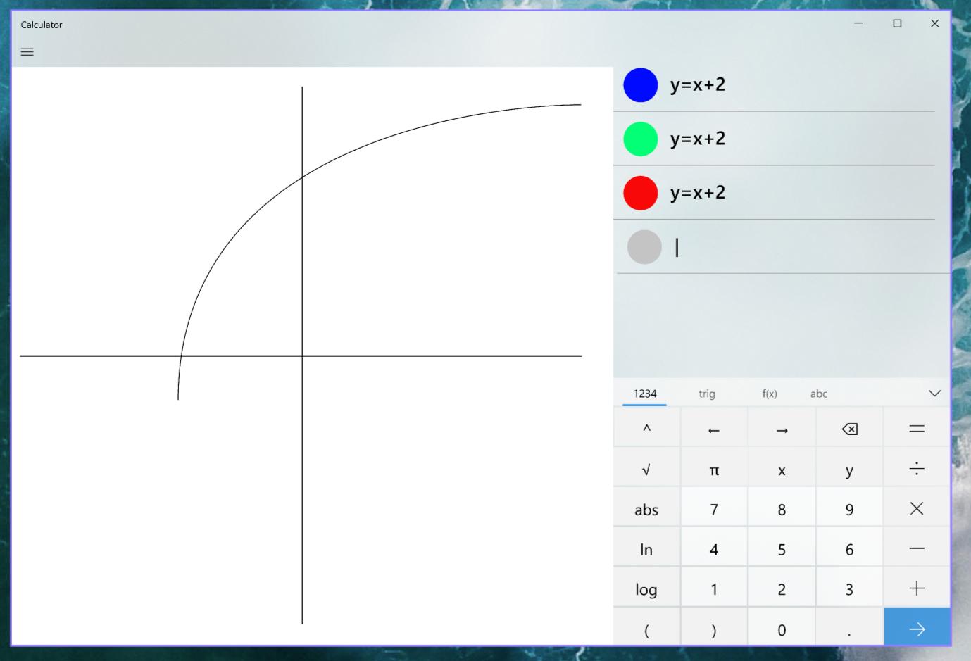 Modalità-grafica-Calcolatrice-Windows