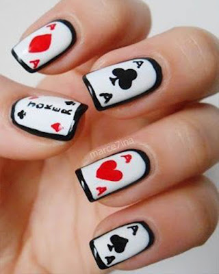 nail desings poker