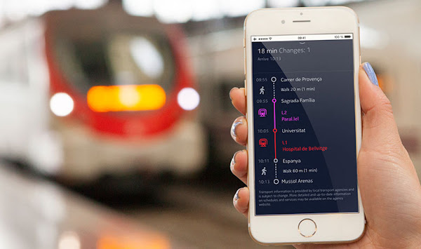 HERE for iOS, transit maps